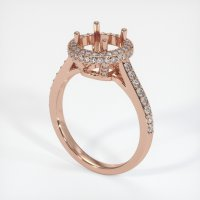 14K Rose Gold Pave Diamond Ring Setting - JS1047R14