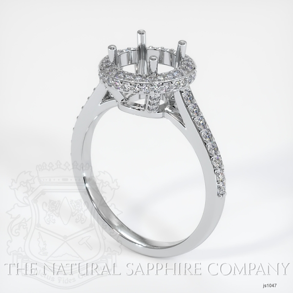 Pave Diamond Halo Ring Setting - Round JS1047 Image
