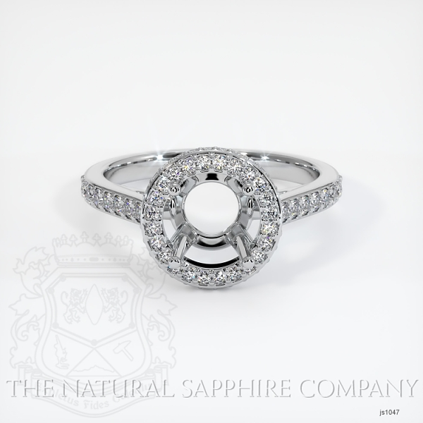 Pave Diamond Halo Ring Setting - Round JS1047 Image 2