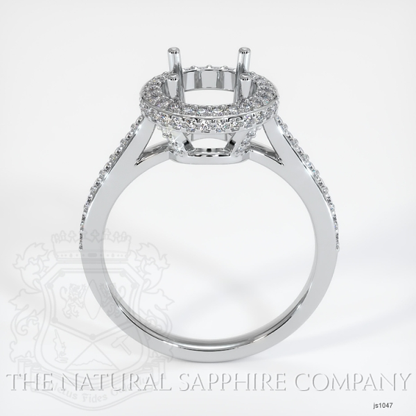 Pave Diamond Halo Ring Setting - Round JS1047 Image 4
