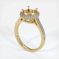 14K Yellow Gold Pave Diamond Ring Setting - JS1047Y14