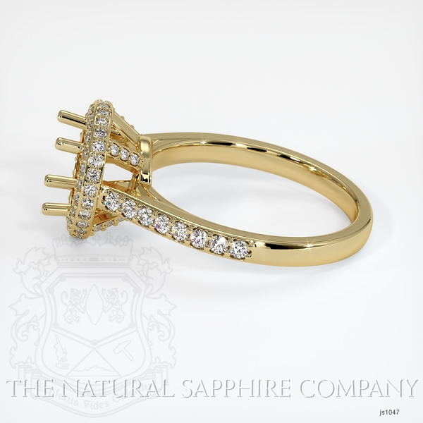 Pave Diamond Halo Ring Setting - Round JS1047 Image 3
