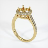 18K Yellow Gold Pave Diamond Ring Setting - JS1047Y18