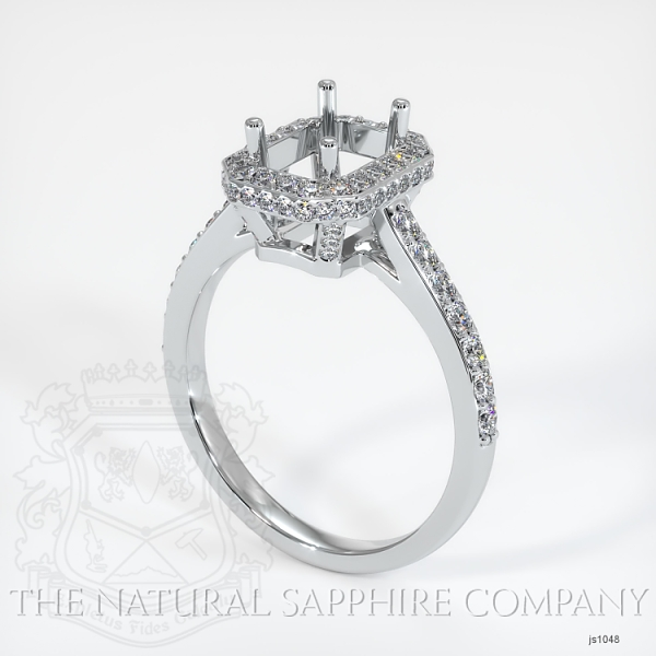 Pave Diamond Halo Ring Setting JS1048 Image
