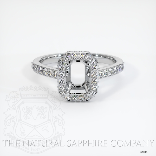 Pave Diamond Halo Ring Setting JS1048 Image 2