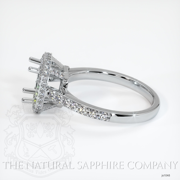 Pave Diamond Halo Ring Setting JS1048 Image 3