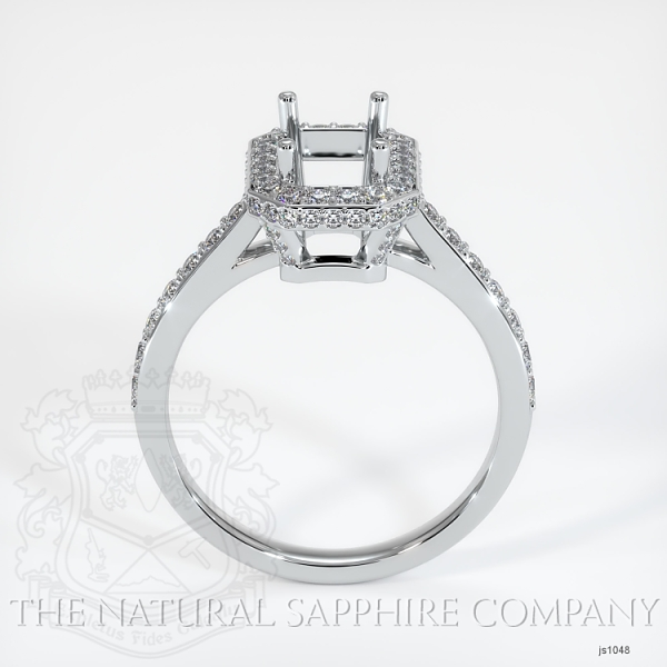 Pave Diamond Halo Ring Setting JS1048 Image 4