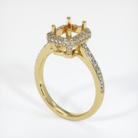 18K Yellow Gold Pave Diamond Ring Setting - JS1048Y18