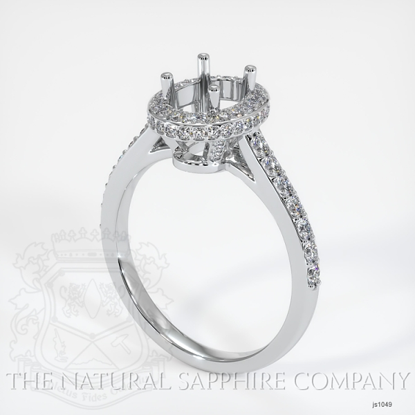 Pave Diamond Halo Ring Setting - Oval JS1049 Image