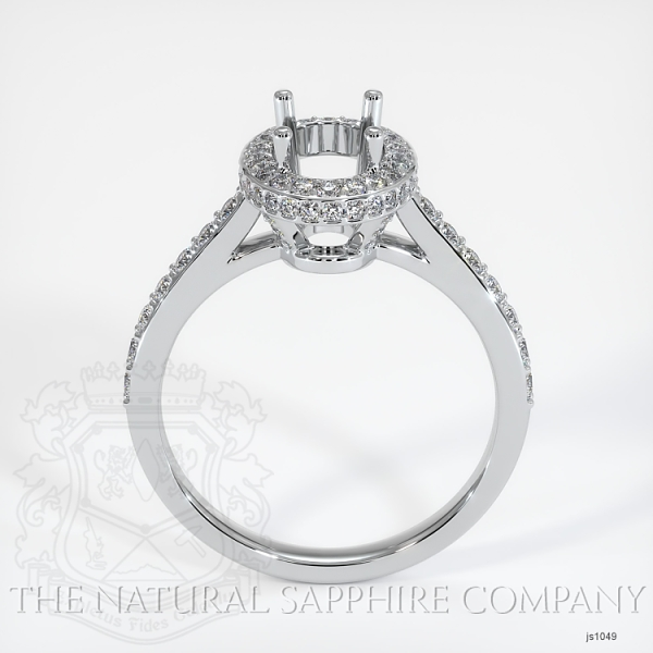 Pave Diamond Halo Ring Setting - Oval JS1049 Image 4