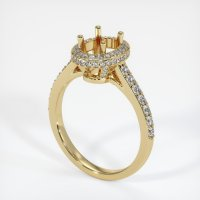 14K Yellow Gold Pave Diamond Ring Setting - JS1049Y14