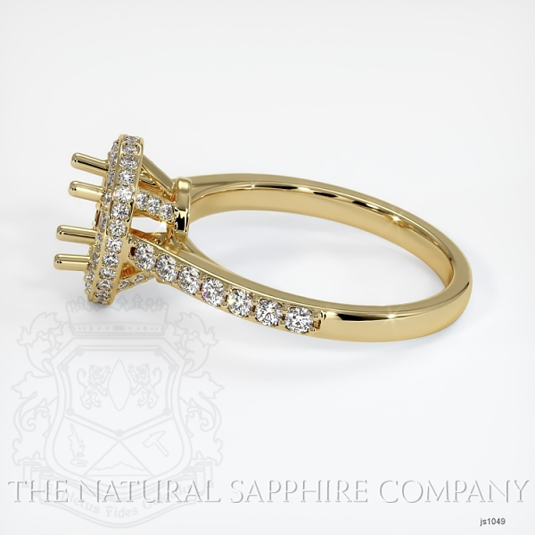 Pave Diamond Halo Ring Setting - Oval JS1049 Image 3