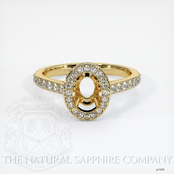 Pave Diamond Halo Ring Setting - Oval JS1049 Image 2
