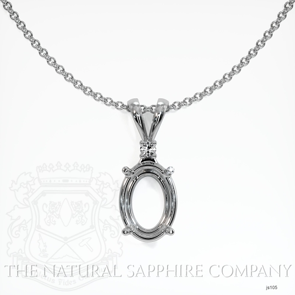 4 Prong With Diamond Pendant Setting JS105 Image