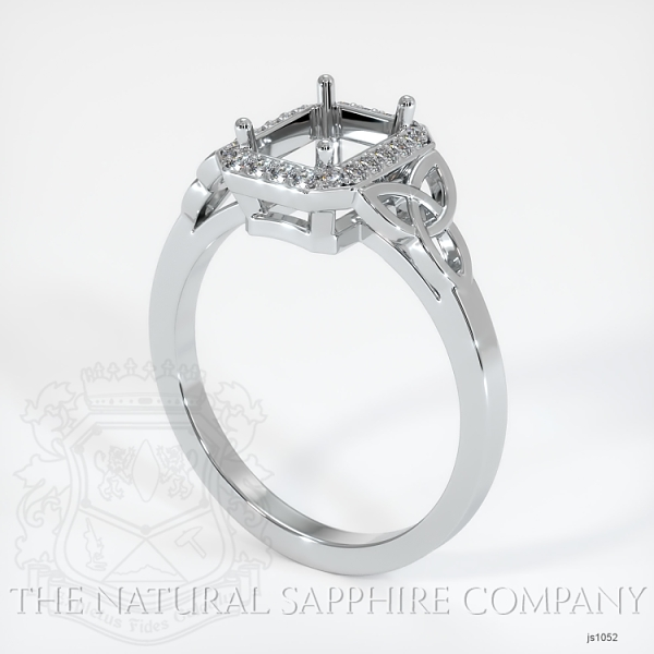 Celtic Pave Diamond Halo Ring Setting JS1052 Image