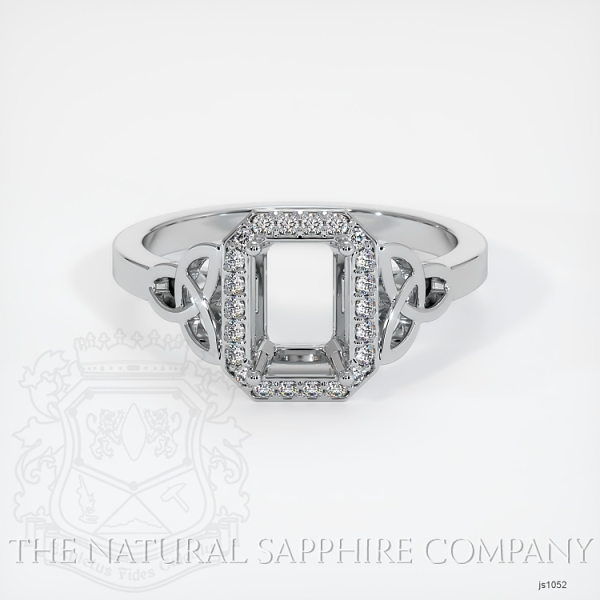 Celtic Pave Diamond Halo Ring Setting JS1052 Image 2