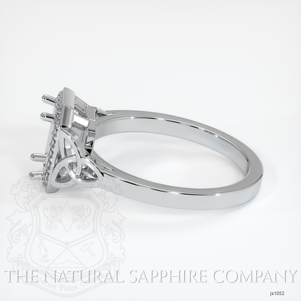 Celtic Pave Diamond Halo Ring Setting JS1052 Image 3