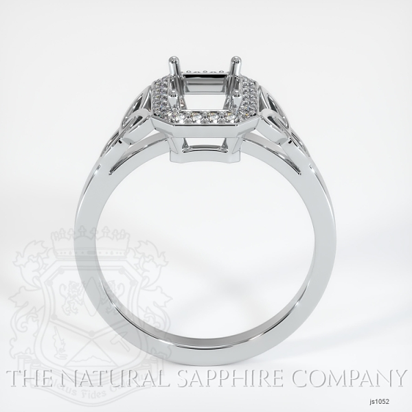 Celtic Pave Diamond Halo Ring Setting JS1052 Image 4