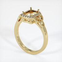 14K Yellow Gold Pave Diamond Ring Setting - JS1052Y14