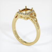18K Yellow Gold Pave Diamond Ring Setting - JS1052Y18