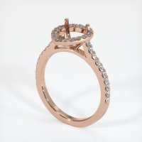 14K Rose Gold Pave Diamond Ring Setting - JS1057R14