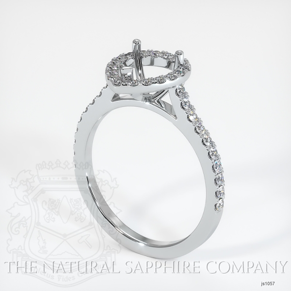3 Prong Pave Ring Setting JS1057 Image