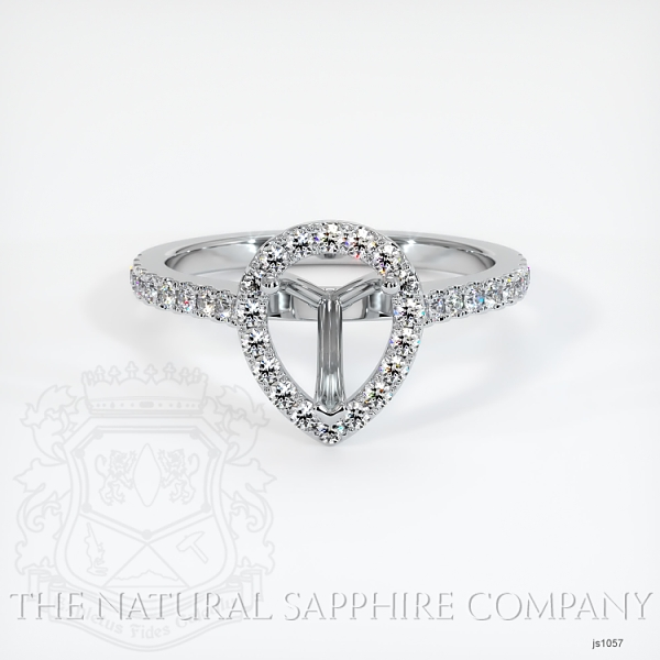 3 Prong Pave Ring Setting JS1057 Image 2