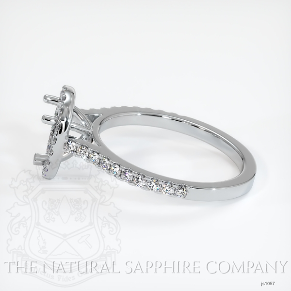 3 Prong Pave Ring Setting JS1057 Image 3