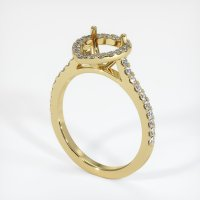 18K Yellow Gold Pave Diamond Ring Setting - JS1057Y18