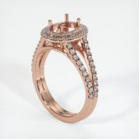 14K Rose Gold Pave Diamond Ring Setting - JS1059R14