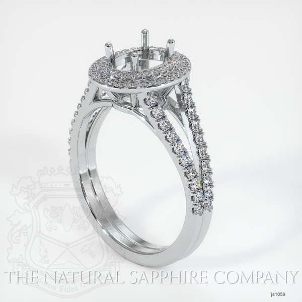 Split Shank Double Halo Pave Diamond Setting JS1059 Image