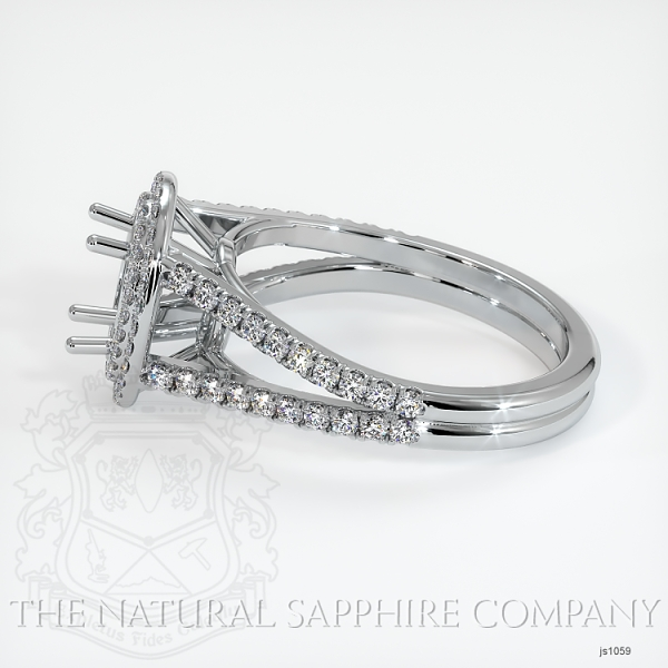 Split Shank Double Halo Pave Diamond Setting JS1059 Image 3