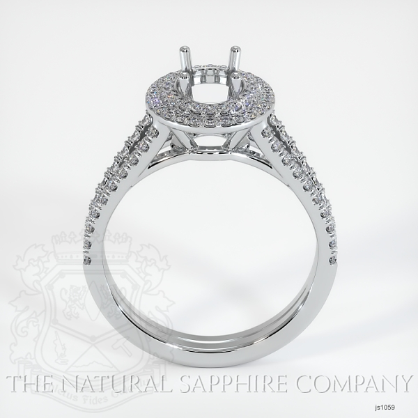 Split Shank Double Halo Pave Diamond Setting JS1059 Image 4
