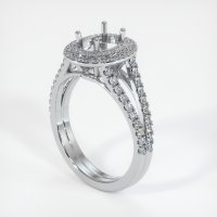 18K White Gold Pave Diamond Ring Setting - JS1059W18