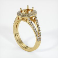 18K Yellow Gold Pave Diamond Ring Setting - JS1059Y18