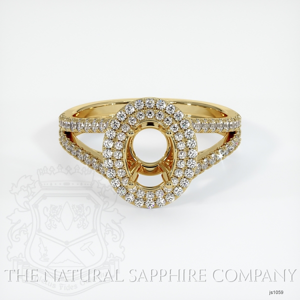 Split Shank Double Halo Pave Diamond Setting JS1059 Image 2
