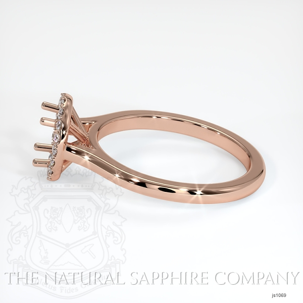 Pave Diamond Halo Setting - Plain Band JS1069 Image 3