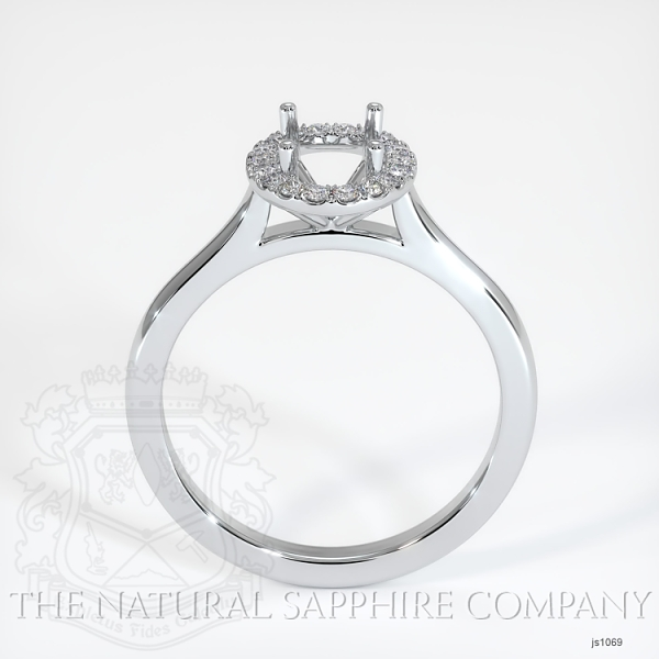 Pave Diamond Halo Setting - Plain Band JS1069 Image 4