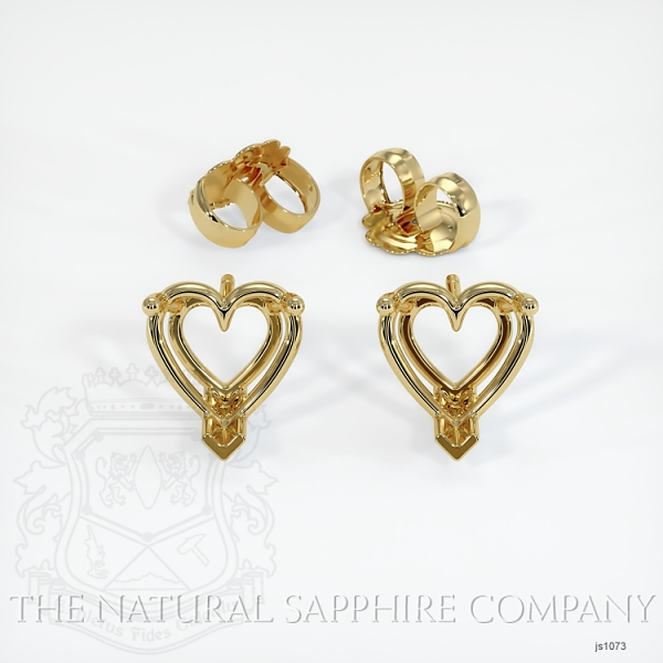 Heart Shape 3 Prong Set Wire Studs JS1073 Image 3