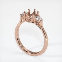 14K Rose Gold Ring Setting - JS1075R14