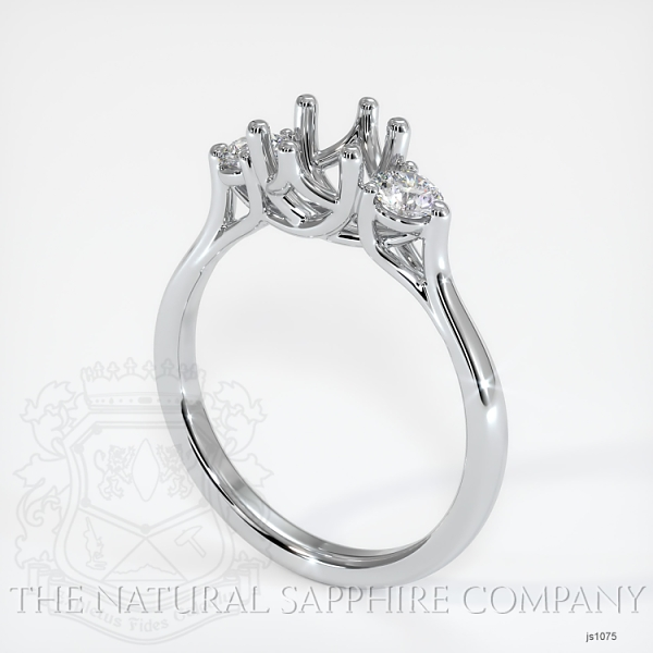 Trellis Three-Stone Ring Setting - Round Diamonds JS1075 Image