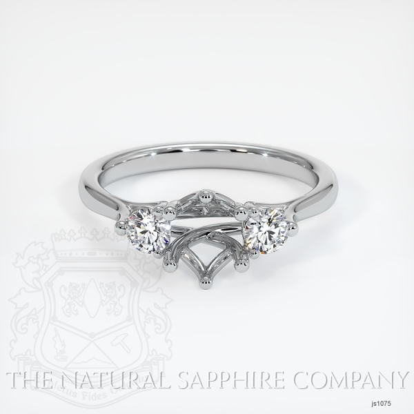 Trellis Three-Stone Ring Setting - Round Diamonds JS1075 Image 2