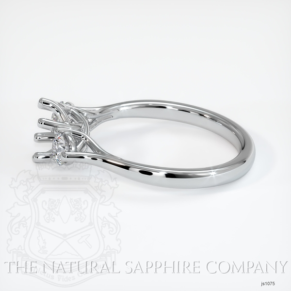 Trellis Three-Stone Ring Setting - Round Diamonds JS1075 Image 3