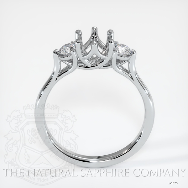 Trellis Three-Stone Ring Setting - Round Diamonds JS1075 Image 4