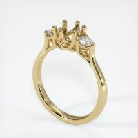14K Yellow Gold Ring Setting - JS1075Y14
