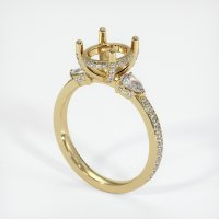 14K Yellow Gold Pave Diamond Ring Setting - JS1077Y14