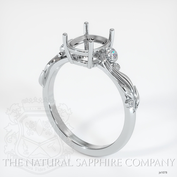 4 Prong Solitaire - Floral Sweeping Band JS1078 Image