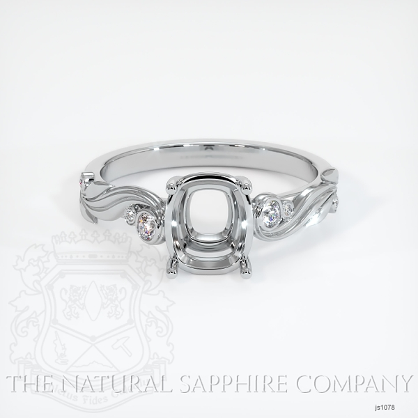 4 Prong Solitaire - Floral Sweeping Band JS1078 Image 2