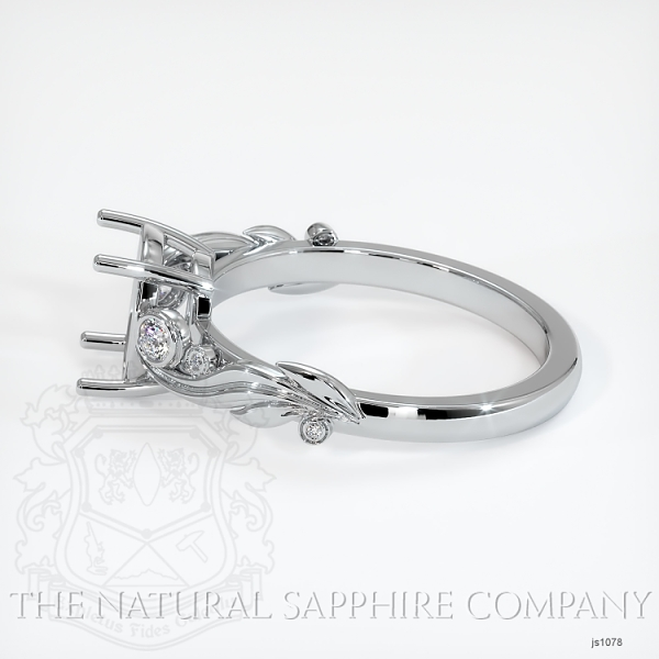 4 Prong Solitaire - Floral Sweeping Band JS1078 Image 3