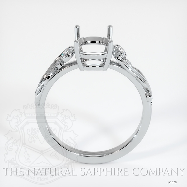 4 Prong Solitaire - Floral Sweeping Band JS1078 Image 4